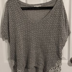 AE Grey + Lace Top
